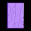 GW_style_50mm___75mm_rectangle_Cracks_2.stl Download free STL file 75mm * 50mm rectangular Base for wargames Warhammer fantasy battle • 3D printable object, redstarkits