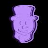 frosty.stl Download STL file Cookie Cutter Christmas Snowman • 3D print template, carloseduardoalfonsogarcia
