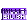 Billie Eilish 3d ornament.stl Télécharger fichier STL gratuit Billie Eilish 3d flip ornament • Design pour imprimante 3D, CheesmondN