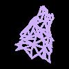 lowpppoly_loup2 .stl Télécharger fichier STL gratuit Pendentif Loup • Objet pour imprimante 3D, Dawani_3D