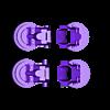 wheel_holder_v2.stl Download free STL file DIY DeLorean Time Machine with lights!! • 3D printer model, OneIdMONstr