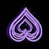 Heart Top.stl Télécharger fichier STL gratuit Support ou ornement pour casque d'écoute Love Hearts • Design pour imprimante 3D, CheesmondN