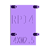 xpi_rpi4#r2.stl Download STL file Raspberry Pi 4 case XPI • 3D printing template, Steenberg