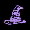 HogwartsHat.stl Descargar archivo STL Sorting Hat Harry Potter Wall • Diseño para imprimir en 3D, miguelonmex