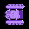 armoured tank hull with tracks.stl Télécharger fichier STL Ork Tank / Canon d'assaut 28mm optimisé pour FDM Printing • Modèle pour imprimante 3D, redstarkits