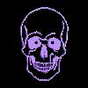 meSkull2.stl Descargar archivo STL Skull Wall (curves) • Diseño para impresión en 3D, miguelonmex