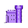 Castle_Bottom_Front_Right.stl Download free STL file Castle Dedede - Amiibo Prop • 3D printable object, ChrisBobo