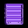 18650_4P_base_V2.stl Télécharger fichier STL gratuit NESE, le module V2 sans soudure 18650 (FERMÉ) • Objet pour imprimante 3D, 18650