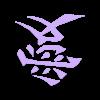 amour_japan_fixed.stl Télécharger fichier STL gratuit Kanji 愛 (ai) - Love Japan Symbol • Modèle pour impression 3D, Heldmann