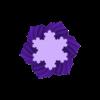 Koch_SnowflakeTwistyLinear.stl Download free STL file Yet More Twisting Kochflake Vases • 3D printing template, Revalia6D