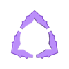Triangle-Dent flexipickII 1'15 Starcenter 06.stl Download free STL file Triangle-Dent Circle'Piramidal - Electric Guitar Stick & Bass • 3D printer template, carleslluisar