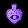 evil_eyes.stl Download free STL file EVIL EYE PENDANT NECKLACE • 3D print object, Genny