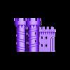 Castle_Bottom_Left.stl Download free STL file Castle Dedede - Amiibo Prop • 3D printable object, ChrisBobo