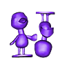 flora_split.stl Download free STL file Flora - Animal Crossing • 3D print object, skelei