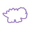 Dino5.stl Download STL file 6 Dino's Cookie cutter- 6 Dinosaur Cutters • 3D printer model, Ushuaia3D