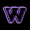W.stl Download STL file sharp letters Cooper Black • 3D printing model, juanchininaiara