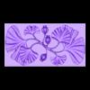 Decorative_Flowers.obj Télécharger fichier OBJ gratuit Modèle 3D de panneau décoratif de fleurs • Design imprimable en 3D, DavidG7