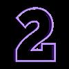 2.STL Télécharger fichier STL gratuit Lot de 10 moules à biscuits numérotés • Design à imprimer en 3D, icepro10