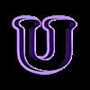 U.stl Download STL file sharp letters Cooper Black • 3D printing model, juanchininaiara