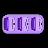 dsc-3slots.stl Télécharger fichier STL gratuit Berceau à double choc 4 • Design imprimable en 3D, kimjh