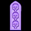 armbar-nishe-skulls.stl Télécharger fichier STL gratuit Sci-fi bunker bunker bunker 28mm • Design pour impression 3D, Terrain4Print