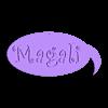 magali.stl Télécharger fichier STL gratuit ÉTIQUETTE EN FORME DE BULLE BD. POUR DECORATION MAGALI • Design à imprimer en 3D, papounet1951