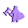Double Bladed Axe Shield Knight.stl Download STL file Knight With Double-Bladed Axe Meeple • Object to 3D print, Ellie_Valkyrie