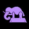 "Elephant_FlexibleFilament.stl Download free STL file ""Wyrd"" Elephant Compliant Mechanism • 3D print object, byucmr"