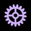 Wall Gears V2 Small Gear (shell).stl Download STL file Wall Gears V2  • 3D print template, SPEKERDUDE