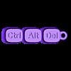 ThePhilosophyOf.stl Download STL file CtrlAltDel key chain • Object to 3D print, EliGreen