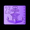BLAHA2_90.stl Download free STL file Солдатские бляхи на 23 февраля (belt buckle) • Model to 3D print, shuranikishin