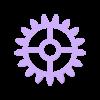 Wall Gears V2 Small Gear.stl Download STL file Wall Gears V2  • 3D print template, SPEKERDUDE