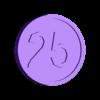 25_cents.stl Download free STL file Free Money! • 3D printer template, Balkhnarb