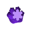 Koch_SnowflakeTwistRound.stl Download free STL file Yet More Twisting Kochflake Vases • 3D printing template, Revalia6D