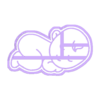 BH1.stl Download STL file BABY COOKIE CUTTER • 3D printable model, SinTiempoLibre