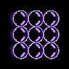 18650.stl Télécharger fichier STL gratuit 18650 Porte-banque de piles à 9 cellules • Modèle imprimable en 3D, webot