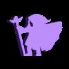 Heavy Cloak Winged Staff.stl Download STL file Heavy Cloak Wizard With Winged Staff Meeple • Template to 3D print, Ellie_Valkyrie