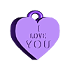 PENDENTIF I LOVE YOU COEUR.stl Download free STL file HEART PENDANT • 3D printer design, vanessad123