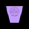 Flower plot square2hole.stl Télécharger fichier STL POT DE FLEUR AVEC ARBRE DE VIE • Modèle imprimable en 3D, SNG06