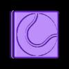 Tennis_ball_1S.stl Download free STL file Tennis String Vibration Dampener with your LOGO! • 3D printing design, sportguy3Dprint