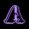 A.stl Download STL file sharp letters Cooper Black • 3D printing model, juanchininaiara